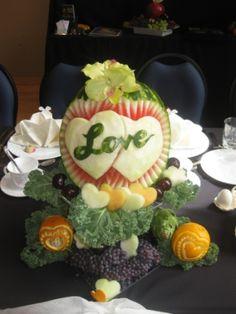 Love watermelon Fruit Art, Watermelon, Dream Wedding, Creativity, Carving, Cake, Amazing, Desserts, Food