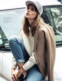 chic cap   #style #streetstyle #coat