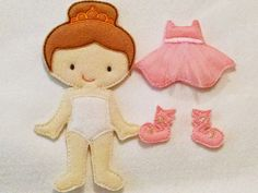 """Ballerina Ava Grace doll plus set of clothing which includes a pink dress and pair of shoes. All of our dolls and outfits are interchangeable. Doll measures approx 5""""X7"""" and is made of a layer of soft"""