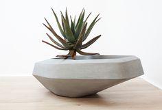 Steen Planter / Pot en béton destructuré | Indigenus | #basileek #pot #concrete