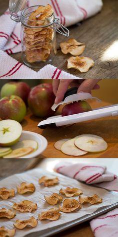 #Recette santé facile de #chips de #pommes!