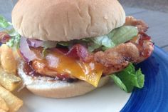 BBQ Chicken With Bacon Sandwiches. Photo by AZPARZYCH