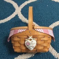 """Longaberger Spring Floral  9/"""" Bowl Fabric Basket Liner Nib Usa made"""