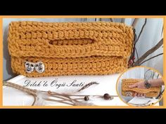 Tiğ Örgü Clutch Çanta / Crochet Knit Clutch Bag - YouTube Clutch Bag, Straw Bag, Knitting, Crochet, Youtube, Clutch Purse, Hands, Crochet Hooks, Tricot