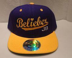 Justin Bieber Belieber JB Cap Embroidery Flat Bill Snapback Hat New Believe | eBay
