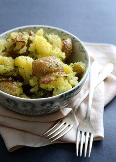 Smashed Potatoes with Parmesan Gremolata   Good Life Eats
