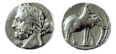Carthaginian War: A Carthaginian shekel, period- 237-227 BC, depicting the Punic god Melqart
