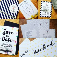 Candy stripes, polka dots and chevron in different forms for these lovely pieces of wedding stationery! Striped Wedding, Candy Stripes, Retro Look, Tie The Knots, Stripes Design, Sticker Design, Wedding Stationery, Chevron, Polka Dots