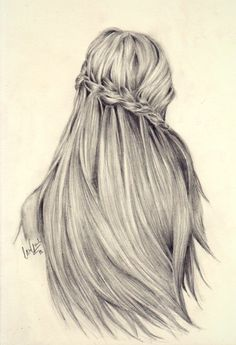 braid, drawing, hair, love, pencil, pretty