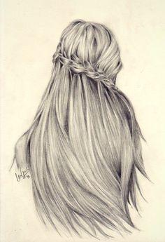 braid, drawing, hair, love, pencil, pretty