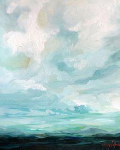 "Fine Art Painting Reproduction of oil landscape ""Sundown"""