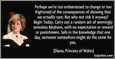 On kindness....