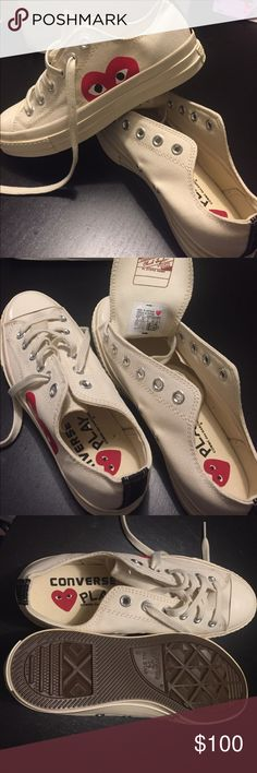 New without box! Converse x comme des garcons play Bought it out form eBay but it's too big for me :( sorry no trade! Women 8 men's 6 price firm. Comme des Garcons Shoes Sneakers