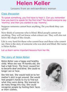 Helen Keller Lesson Plans Elementary Middle School | Middle school ...