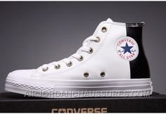 http://www.airjordanchaussures.com/converse-white-leather-two-panels-chuck-taylor-all-star-high-tops-lastest-zjbib.html CONVERSE WHITE LEATHER TWO PANELS CHUCK TAYLOR ALL STAR HIGH TOPS SUPER DEALS KJA3Y Only 59,00€ , Free Shipping!