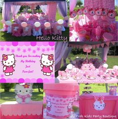Hello Kitty themed kiddies party by Co-Ords Kidz Party Boutique