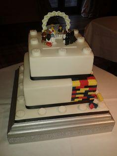 Lego wedding cake geeky chic and epic #yum #lego #geek #geeky #cake #preppy