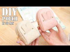 d4067af9ee3 DIY LOVELY POUCH BAG    Zipper Purse Bag Tutorial PU Lather Design