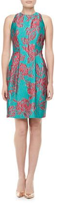 Kay Unger New York Sleeveless Floral Cocktail Dress
