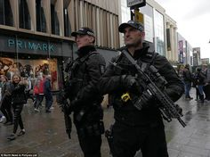 Armed officers from Northumbria Police patrolling in Newcastle Swat Police, Police Patrol, Police Uniforms, Police Officer, London Police, Military Guns, Military Art, Men In Uniform, Army & Navy