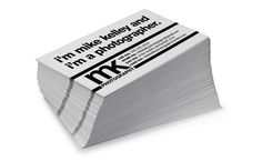 Mike Kelley Photography Business card