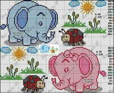 Lil Pink and Blue elephants