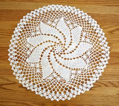 Vintage Crocheted Doily  Pinwheel Design  estate by estatesalegems, $3.50
