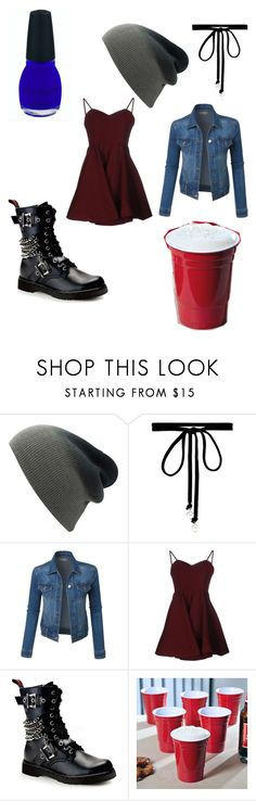"""""""Hannah baker ? Ishh"""" by emogaykitten ❤ liked on Polyvore featuring Joomi Lim, LE3NO, Glamorous and Demonia"""
