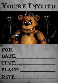 Instant DownloadFive Nights at Freddy's by PunchItGraphics on Etsy