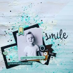 Kaisercraft : Seabreeze Collection : Smile layout by Amanda Baldwin Scrapbooking Layouts, Scrapbook Pages, Soft Plastic, Layout Inspiration, Handmade Art, Mixed Media, Paper Crafts, Creative, Happy