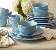 Robin's egg blue dishes. I love these! And just because my name is Robin...
