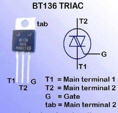 BT 136 TRIAC #Engineeringstudents