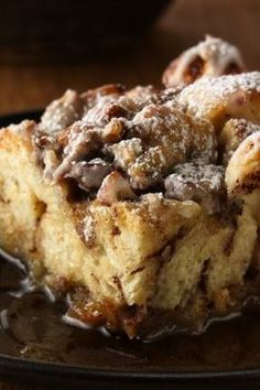 Cinnamon French Toast Bake Recipe ~ This easy breakfast bake features refrigerated cinnamon rolls that make quick work of favorite French toast flavors.