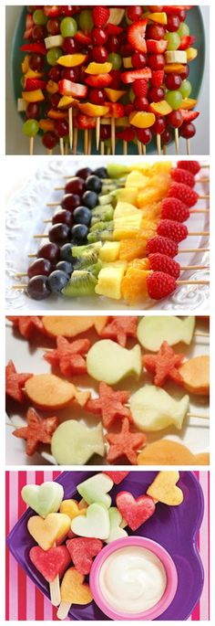 rainbow fruit on a stick Buffet Party, Fruit Sticks, Healthy Snacks, Healthy Recipes, Skewer Recipes, Good Food, Yummy Food, Food Humor, Diy Food