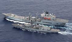 RFA Wave Ruler with HMS Sutherland