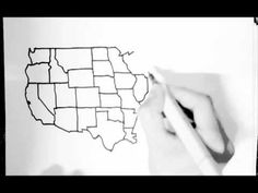 Drawing the United States freehand