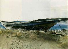 Andrew Wyeth - Seining dory on Teels