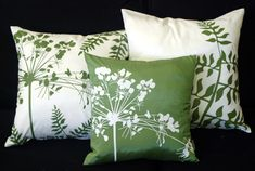 Spring Flower Throw Pillows from Pillow Decor, would consider greens for living room accents