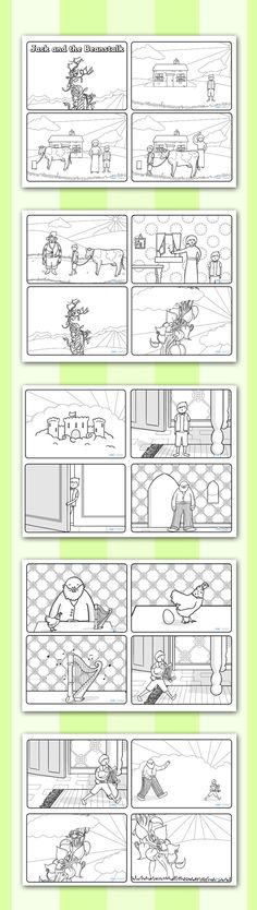 Twinkl Resources >> Jack and the Beanstalk Story Sequencing (4 per A4) >> Printable resources for Primary, EYFS, KS1 and SEN. Thousands of classroom displays and teaching aids! Topics, Traditional Tales, Jack and the Beanstalk, Story Sequencing