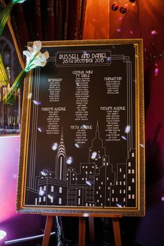 A Glamorous 1940′s Old New York Inspired Wedding Table Plan | Photography by http://www.sarahgawler.co.uk/