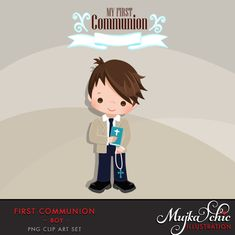 First Communion Clipart for Boys Add On. Boys First Communion, First Communion Favors, Communion Gifts, Clipart Boy, Boy Illustration, Angel Pictures, Planner Supplies, Digital Stamps, Party Printables