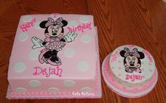 Mickey And Minnie Mouse Birthday Cakes Perfect Minnie Mouse Birthday Decorations, Minnie Mouse First Birthday, Minnie Mouse Theme, Baby 1st Birthday, First Birthday Parties, Birthday Ideas, Cupcake Birthday Cake, Birthday Cake Decorating, Cupcakes For Boys