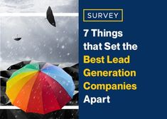 Survey: 7 Things that Set the Best Lead Generation Companies Apart - Learn what differentiates the best lead generation companies from the rest, according to the latest - Lead By Example Quotes, Process Flow Chart, Domain Knowledge, First Response, Differentiation, Lead Generation, Case Study, About Me Blog, Good Things