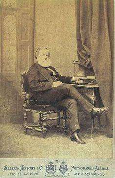 D. Pedro II, second and last emperor of Brazil - by Alberto Henschel em 1975