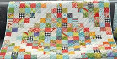 Fabrics from Your Favorite Line Would Also be Lovely in This Quilt! Fabric scraps and a simple layout were used to create this patchwork throw quilt. While the design is simple, the quilt is full of old fashioned charm. Plus, it's a breeze to make. The designer, Sarah Haslip, provides an overview of how she …