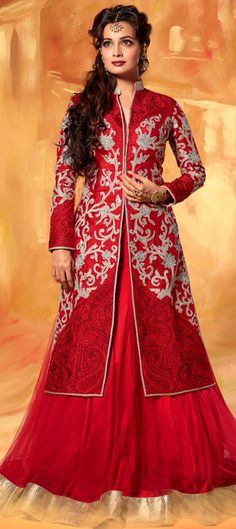 7,020 Cost Includes Lehenga, Dupatta, Stiched Choli, Fall & Edging Work Worldwide Shipping is FREE Tentative Delivery By 17 Feb, 2015 154666: Red and Maroon color family Long Lehenga Choli.