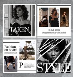 """The most stylish social media pack is here! We are proud to present the """"Taken"""" bundle. Perfect for those who wish to stand out and share their elegant life captures through a branded social feed. #instagramtemplate #instagram story #instagram #fashiongraphics #fashion #fashionable #stylish #canva #socialmedia #socialmediapack #socialmediabundle #socialmediatemplates #design #edgy #bold #trending #graphics #graphicdesign #facebook #creativemarket #twitter #influencermarketing #love #instadesign"""