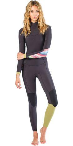 2015 Billabong Ladies 4 3mm Salty Days Chest Zip GBS Wetsuit in Multi  Q44G03 Triathlon 946b11dd487