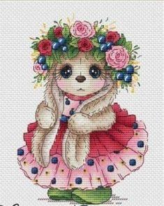 Chicken Cross Stitch, Cute Cross Stitch, Cross Stitch Patterns, Cute Bunny, Betty Boop, Cross Stitching, Needlepoint, Cute Animals, Teddy Bear