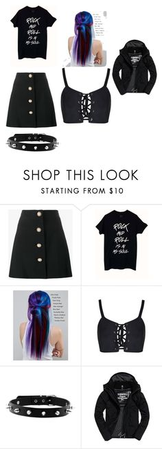 """dianna"" by nightmare-sans on Polyvore featuring Miu Miu, Manic Panic NYC and Superdry"